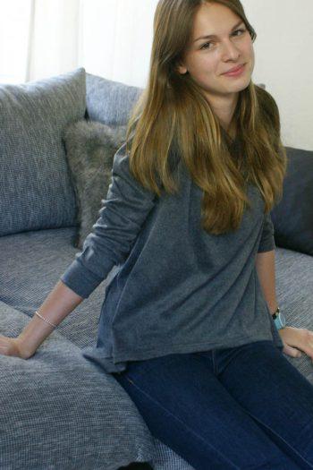 comfy asymmetric sweater