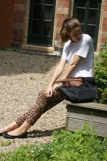 old pile & leo pants