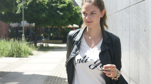 Zara Lederjacke