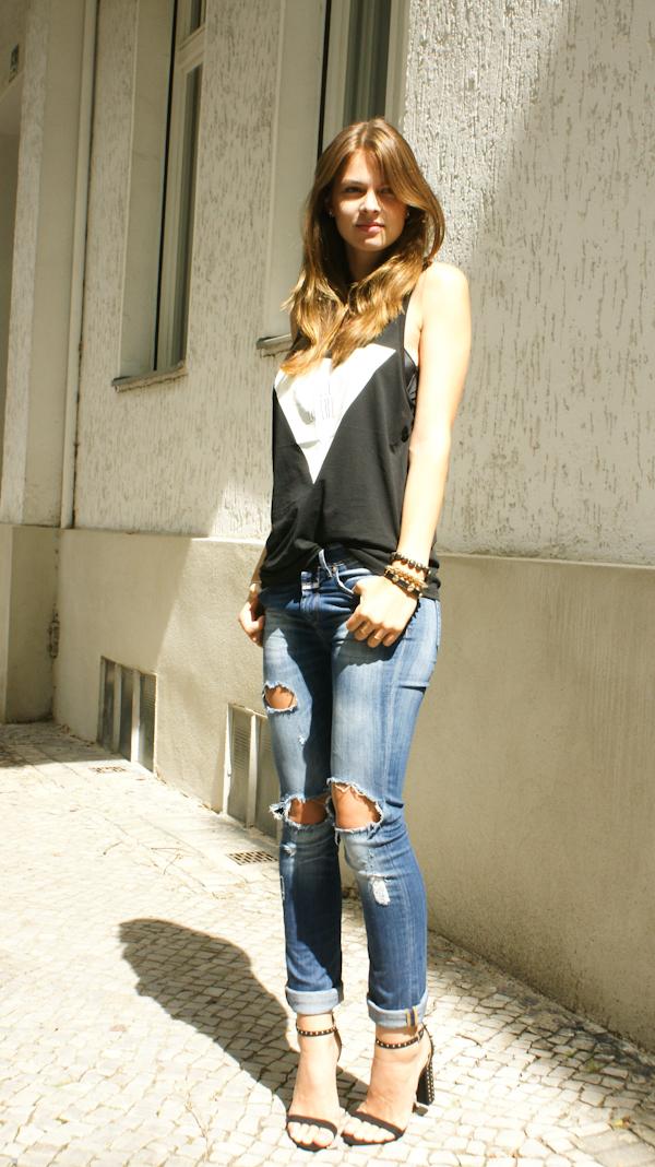 DIY zerrissene Jeans
