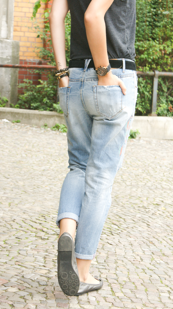 How to wear a boyfriend Jeans  Outfit