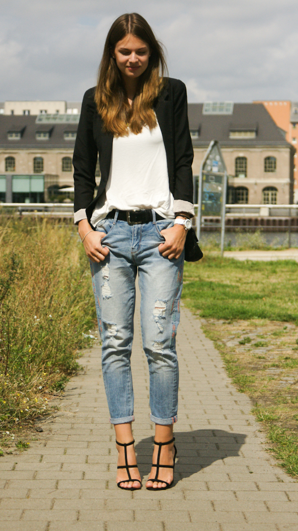 How to wear a boyfriend Jeans
