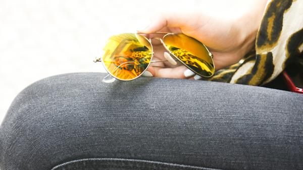 verspiegelte Sonnebrille