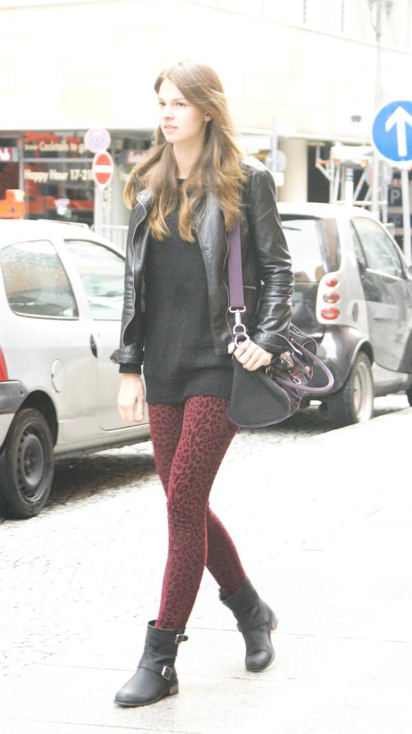 Zara Leopard Leggings