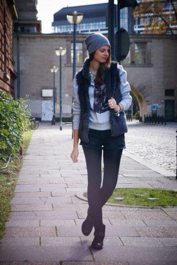 4 Days 4 Ways: Wie trägt man eine Fellweste #2