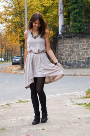 autumn colours and a dress