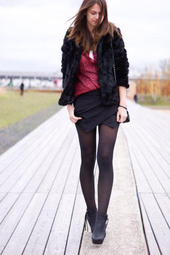 4 Days 4 Ways: Wie trägt man einen Skort im Winter #2