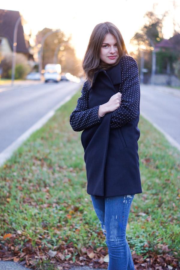 studded coat