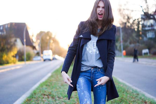 Farbtupfer Jeans