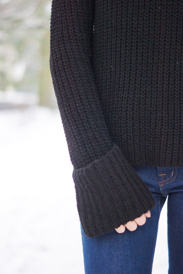 sweater with oversized sleeves