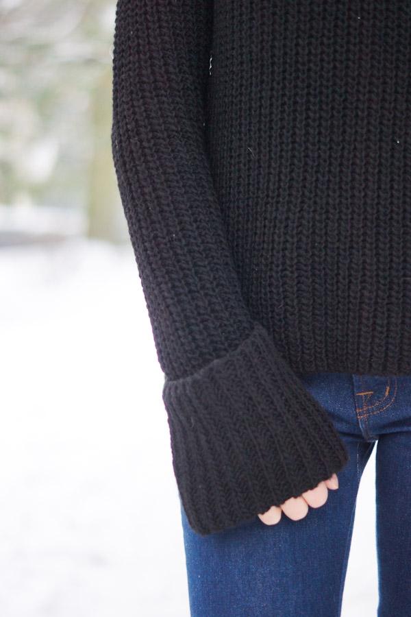 Pullover mit übergroßen Ärmeln