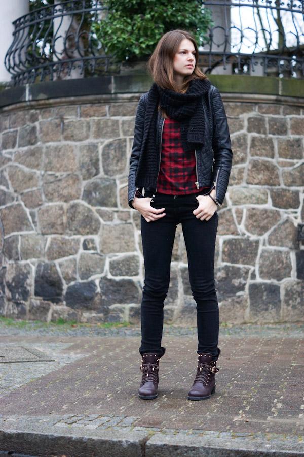 checkered Zara sweater