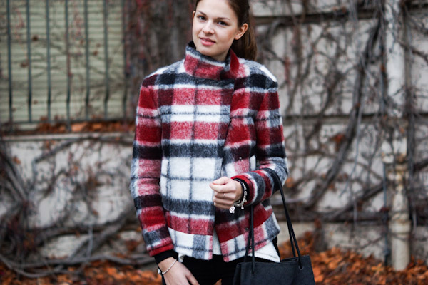 checkered Jacket from Zara