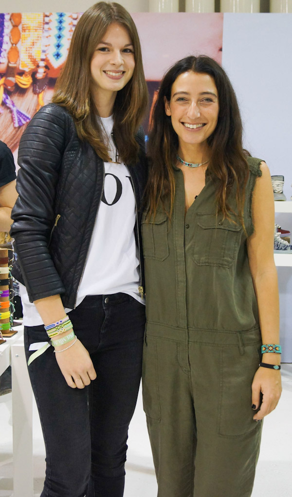 designer zozi from kim&zozi with fashion blogger jacky at the premium exhibition berlin