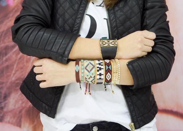 bracelets in various fabrics from kim&zozi