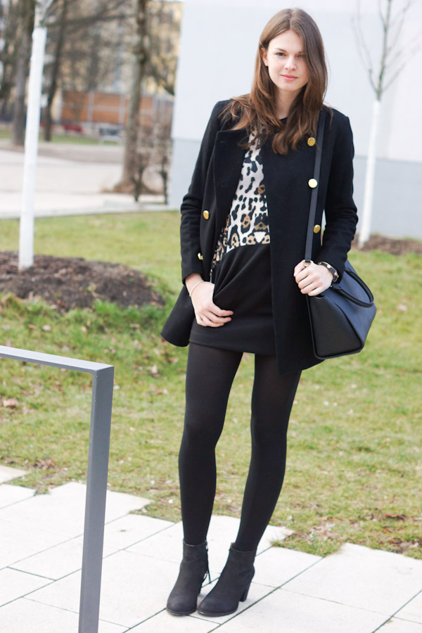 black outfit with leo details