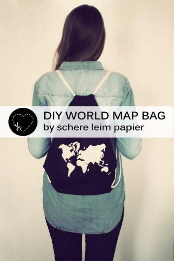 Gastpost: DIY Weltkarten-Beutel von schere leim papier