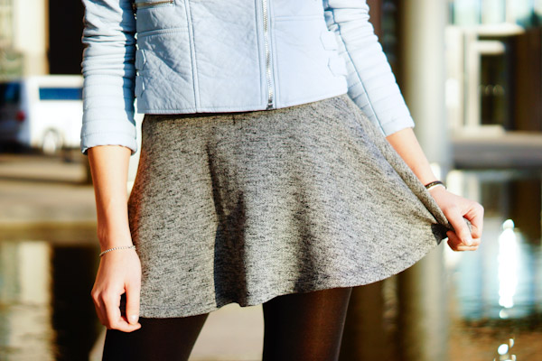 Grey Zara Skirt
