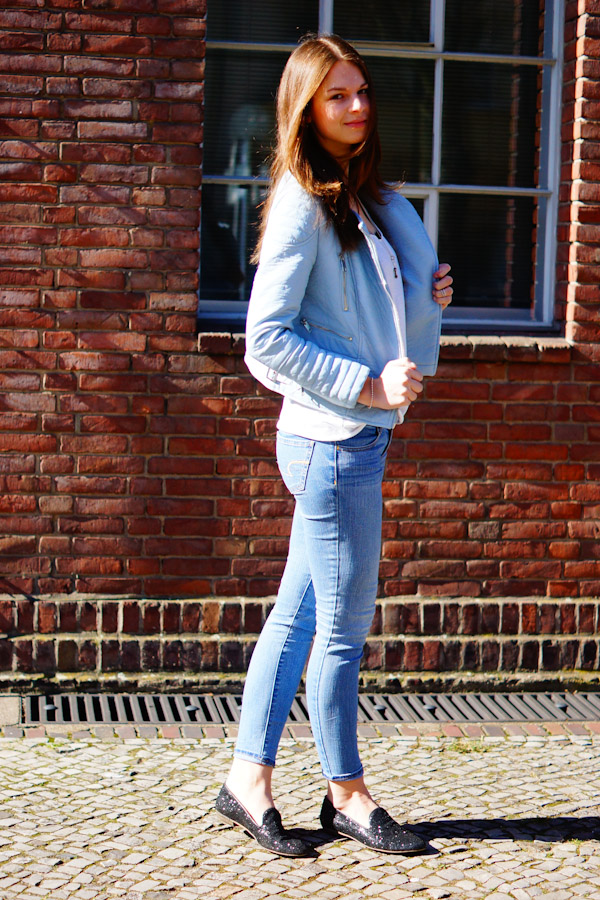 How to wear a Pastel Biker Jacket