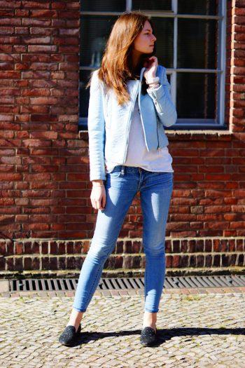 4 Days 4 Ways: Wie trägt man eine Pastellfarbene Bikerjacke #3