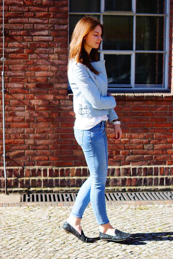Zara Pastel Biker Jacket