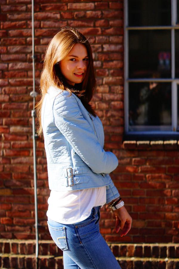 4 Days 4 Ways How To Wear A Pastel Biker Jacket 3