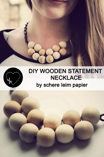 guestpost: DIY wooden statement necklace by schere leim papier