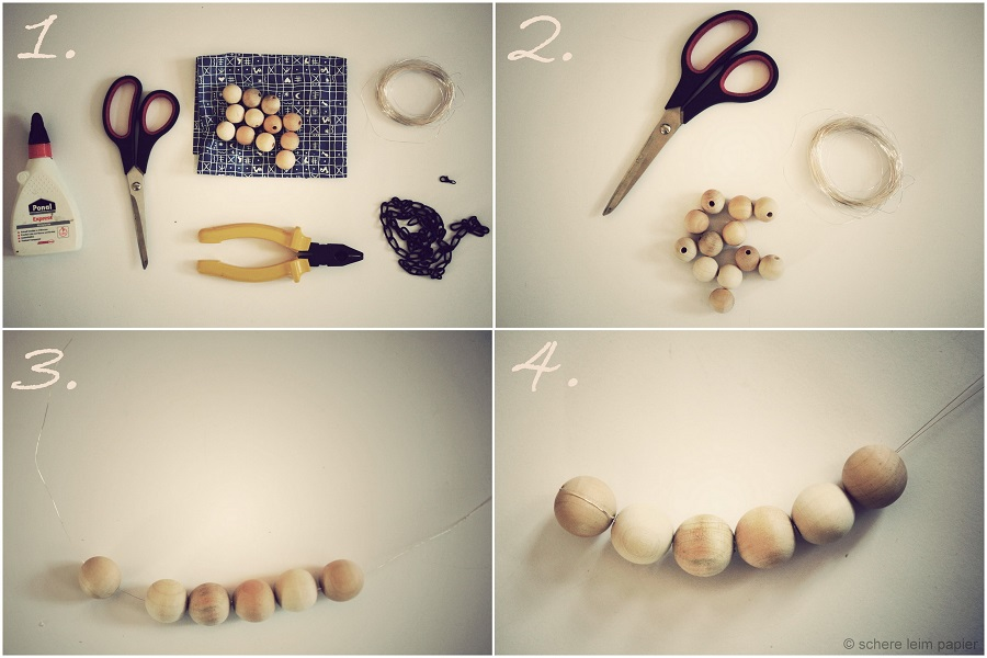 DIY Wooden Statement Necklace