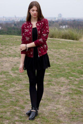 Teufelsberg Berlin: Dress + Bomber Jacket