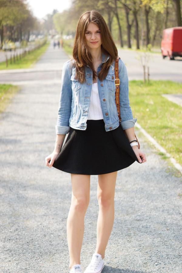 Denim Skirt Fashion Blog