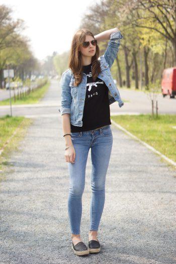 4 Days 4 Ways: Wie trägt man eine Jeansjacke #4