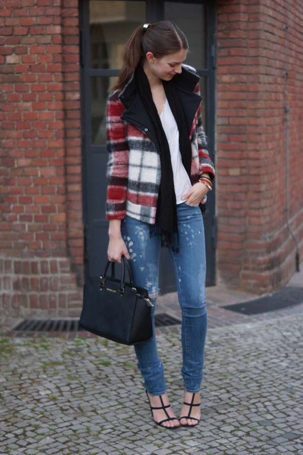 chequered Zara jacket