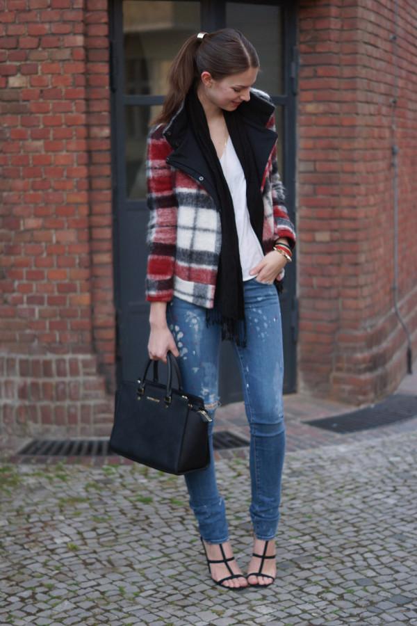 chequered Zara jacket