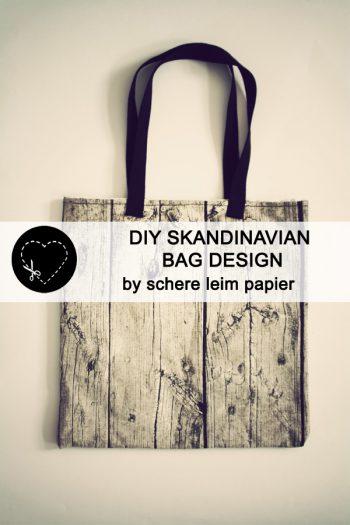 DIY Skandinavisches Taschendesign von schere leim papier