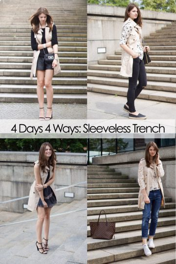 4 Days 4 Ways: How to wear a Sleeveless Trench – your favourite