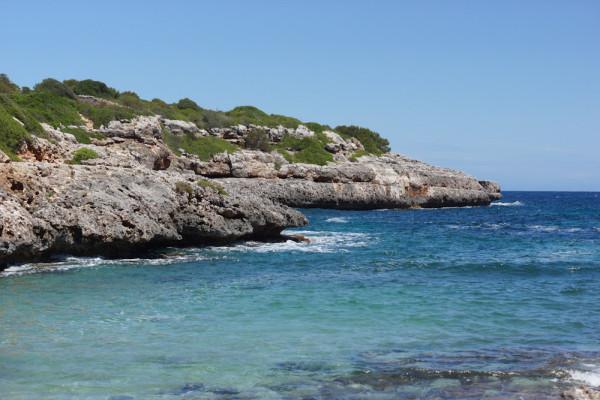 versteckte Bucht auf Mallorca