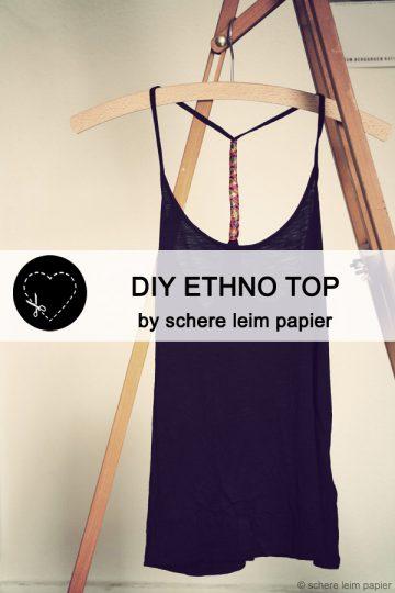 Guestpost: DIY ethno top by schere leim papier