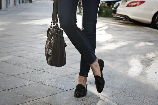 Bronx glitter slippers