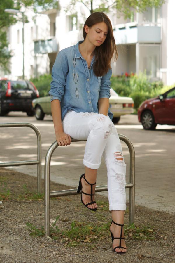Wie trägt man eine boyfriend Jeans
