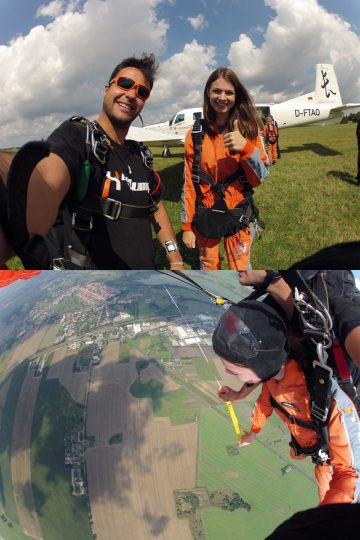 Skydiving at GoJump with mydays