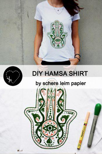 DIY Hamsa-Shirt von schere leim papier