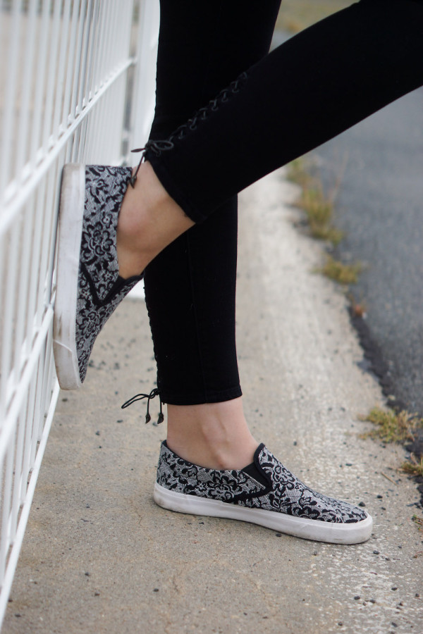 lace slip ons