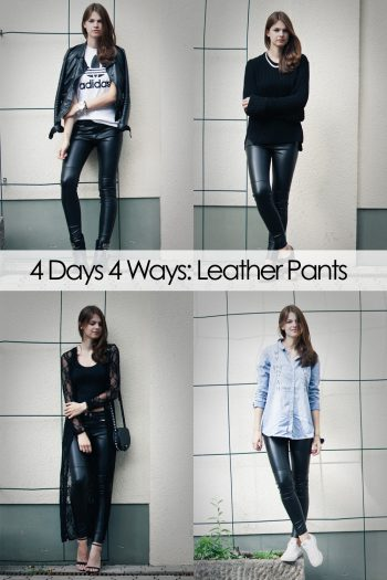 4 Days 4 Ways: How to wear Leather Pants – your favourite