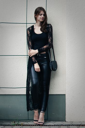 4 Days 4 Ways: How to wear Leather Pants #3