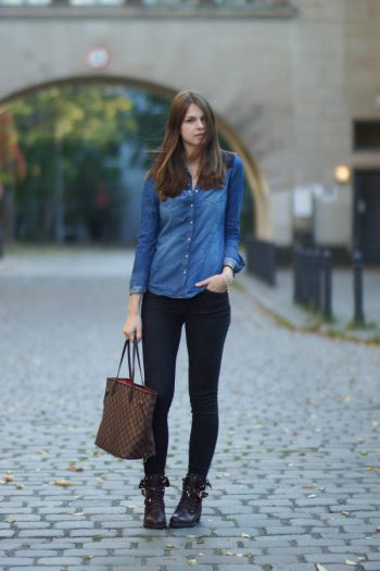 4 Days 4 Ways: How to wear a Denim Shirt #3