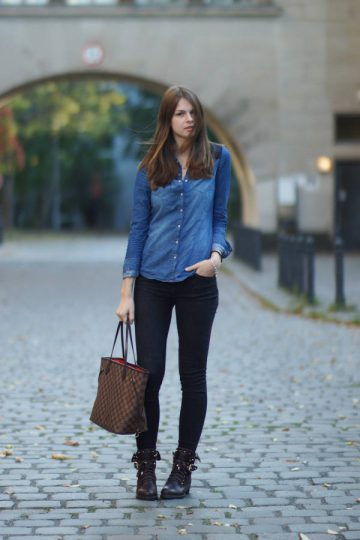4 Days 4 Ways: Wie trägt man ein Denim Shirt #3