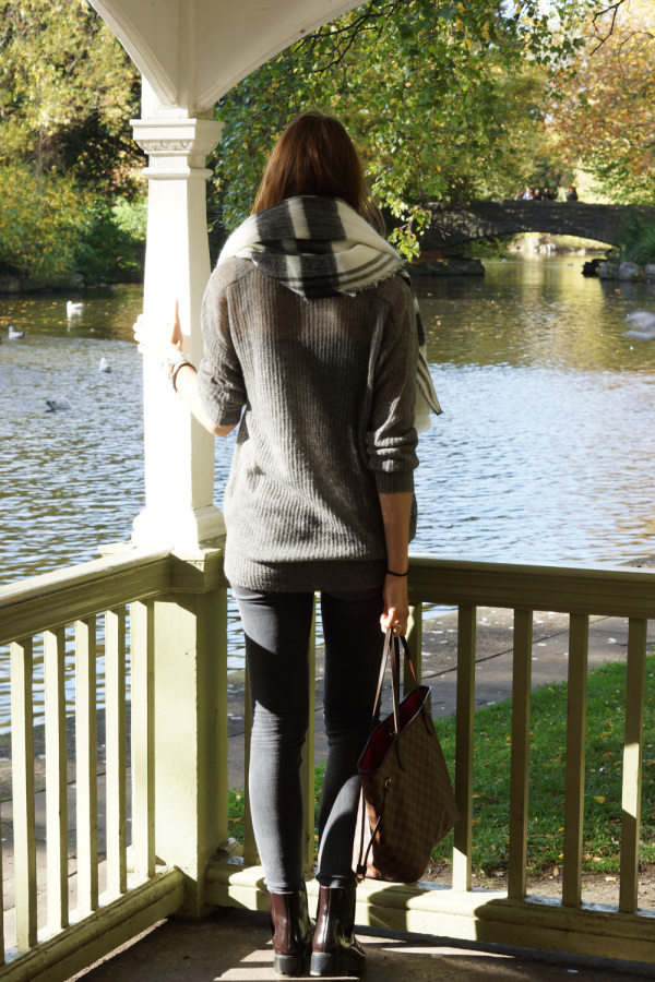 total grey outfit