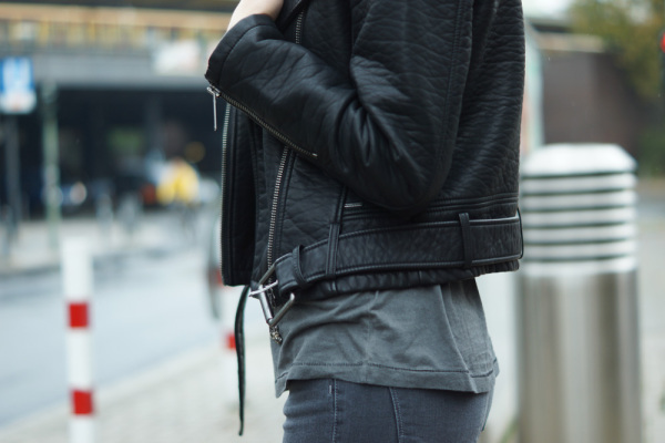 belted leather jacket