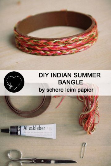 DIY Indian summer bangle