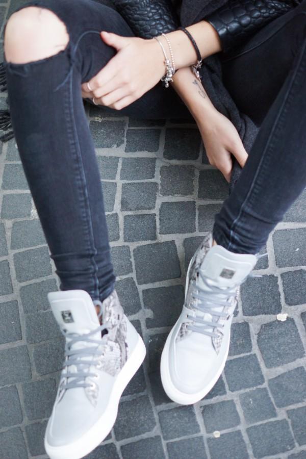 grey python sneaker